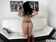 Heavy chested latina Amanda X gets unmask and naughty