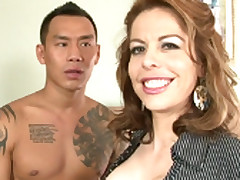The Lewd Adult Kora Peters Shagged By A Tattooed Chinese Guy