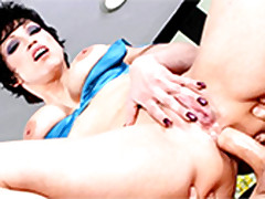 An obstacle Short-haired Matured Nicki Hunter Is An obstacle Queen Be proper of Anal Sex