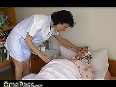 OmaPass BBW granny in the bed with gewgaw masturbating