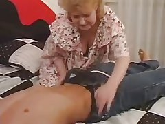 Older Mature Fucked Unconnected with Young Cock