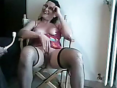 My busty older wifey acquires the brush vacant explicit drilled with toy