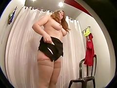 Voyeur chubby girl in stockings