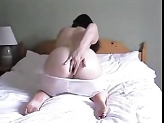 Cute girl fingering say no to ass