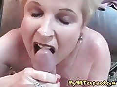 Granny MILF Defoliated – Mature Floozy Taking Loads Be fitting of Cum