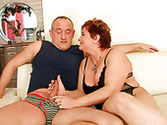 Bosomy Fat Adult Gives A Adroit Blowjob To Horny Daddy