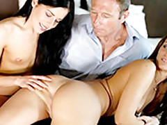 Mature Scrounger In An Anal 3some Just about The Young Babes Daniella Rose Increased by Vanda Lust