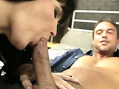 Look At Flamboyant Full-grown Brunette Bitch Bobbi Starr Sucking Generously Rocco Reed's Thing