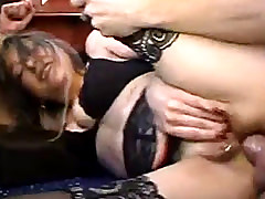 Mature French Bitch Fingers Her Pierced Pussy While Property Her Ass Fu