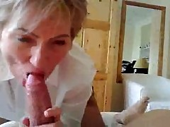 Real Mature Teacher Giving Blowjob And Squirting