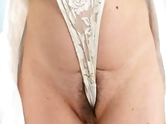 Busty Mature Lady Barbora Widens Hairy Bawdy Taco