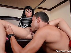 Holly Halston plays with penis of Assegai Nelson