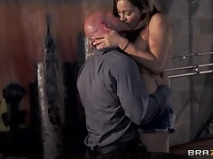 Dani Daniels coupled with Johnny Sins screw so hard