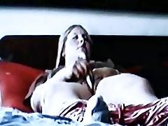 spycam blonde mom rubs clit with dildo and orgasm