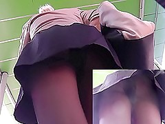 Juicy upskirt pussy recommendation of the amateur fair-haired MILF