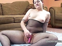 Lascivious housewife Naomi St Claire is playing with her vibrator