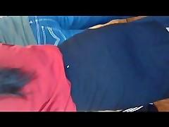 Blue Brunette on touching a Skirt 2