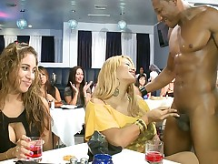 Predominating bachelorette blowjob party