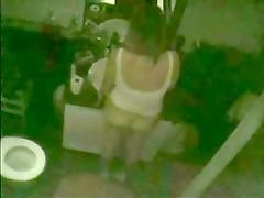 Hidden cam in bathroom caugh materfamilias masturbating