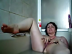 Sexually Perturbed darksome brown bitch masturbates lanuginous cum-hole for me