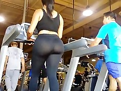 JOM: Extremely Fat Ass on Treadmill!!!! regular motion