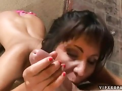 Billi Anne seduces young boys and swallows their cocks
