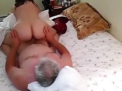 Aged woman cowgirl about-face sex
