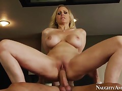Danny Save up coupled with Julia Ann hot sex