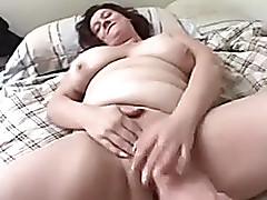 Chubby aged darksome ill-lighted masturbates and sucks thin cock