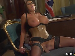 Domineer brunette Emma Butt seduces young and perspective politician Danny D