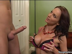 Sexy hot materfamilias Carina Roman in hardcore youngster disgrace!