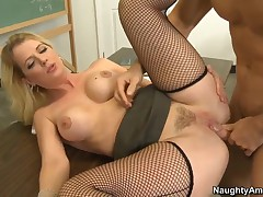 Stacked Blonde MILF Crammer Anita X-rated Fucks Her Pupil