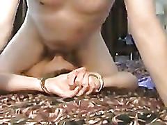 Adult amateur bitch sucks my schlong on webcam