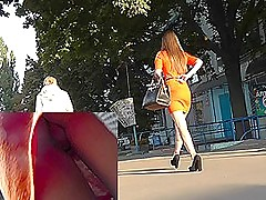 She doesn't gain in value that upskirt camera is filming her