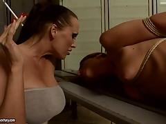Bambi gets racking by milf Mandy Bright