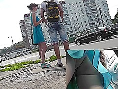 Young and there a bf in the X upskirt camera
