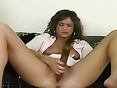 My woman masturbates with a coitus toy