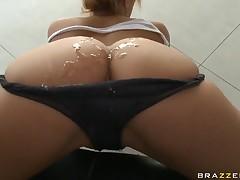 Milf with big aggravation Shyla Stylez gets dildo into the anus