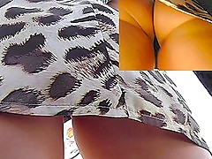Real upskirt videos with stunning brunette minx