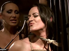 Barbie Pink gets tormented by Mandy Bright