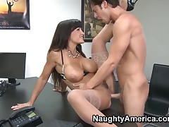 Lisa Ann fucked hard by Seth Gamble in say no to office