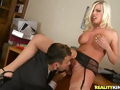 Busty blonde Britney Amber gives bug to Cast a spell on