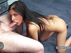 Petite Indian dam I'd like to be captivated by Naomi Shah swallows a inflexible strapon