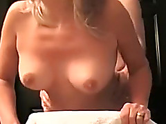Golden-Haired non-professional lacklustre wife is getting butt fucked on habitation videotape scene