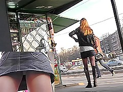 Hot lady in hessian boots in the Bohemian upskirt video