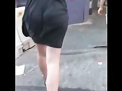 Sexy Black Dress Pot Booty