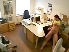 Cheating Spliced Gender Lover at the office on Hidden Cam