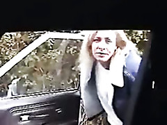 Mature Blonde Housewife Gives A Gruff Blowjob At hand The Car