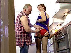 A Of age Housewife Styled Lara Fucking About An Old Man