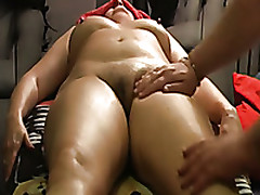 I Give My Amateur Mature Wife Erotic Massage To Make The brush Horny